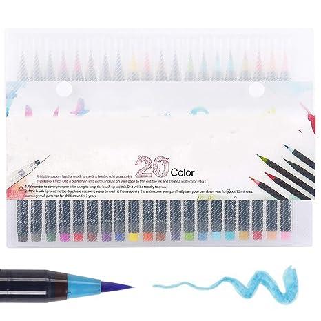 Wrighteu Watercolor Brush Pen Lápices de Acuarela Rotuladores Plumas ...