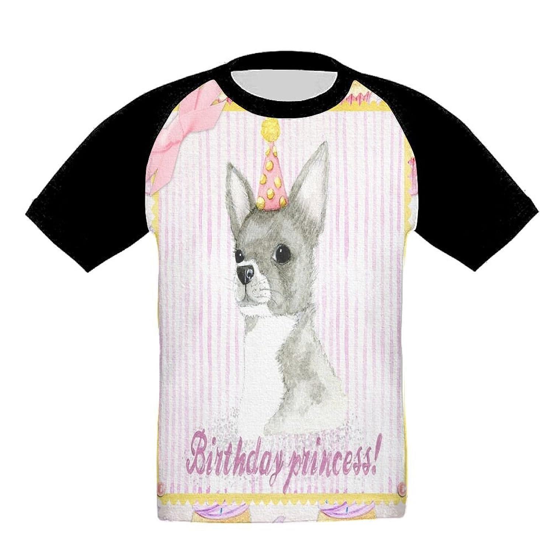 Quzim Cupcake Birthday Dog Princess Jersey Baseball Tee T Shirts For Kids Toddler Baby Boys Girls