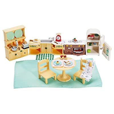 Calico Critters Deluxe Kozy Kitchen Set: Toys & Games