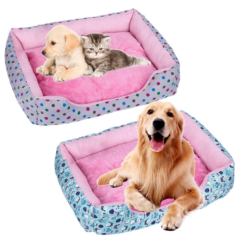 Amazon.com : Greencolorful Large Pet Beds, Square Dogs Cats/Teddy Kennel, Soft Comfy Washable Medium and Small Animal Dog Cat Nest : Pet Supplies