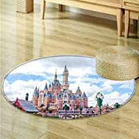 Round Rugs for Bedroom Shanghai Disneyland Circle Rugs for Living Room -Round 51