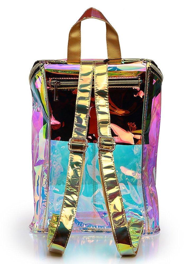 Zicac Clear Transparent Hologram Holographic Envelope Backpack