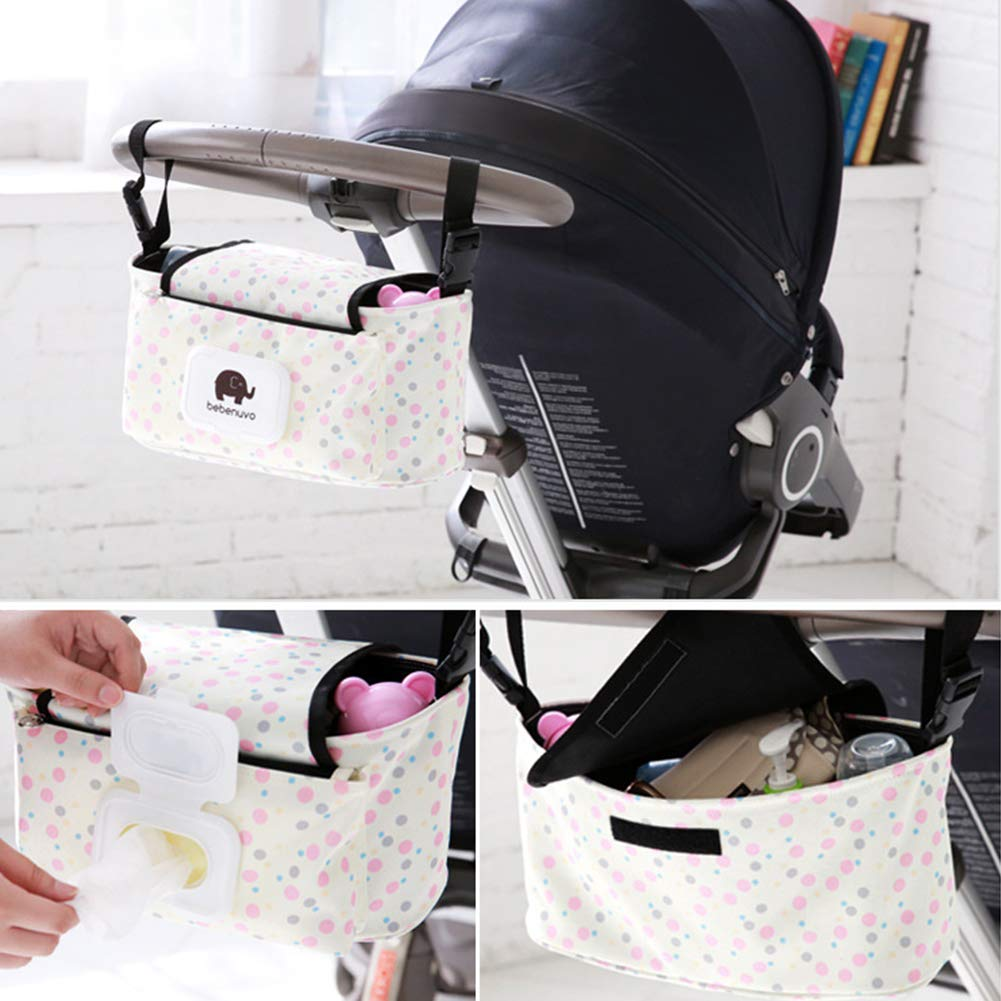 Baby Stroller Organizer Bag Storage Universal Fit for Infant Cars and Shopping Cart Ultra-Large Capacity for Toys//Diapers//Cups//Phones