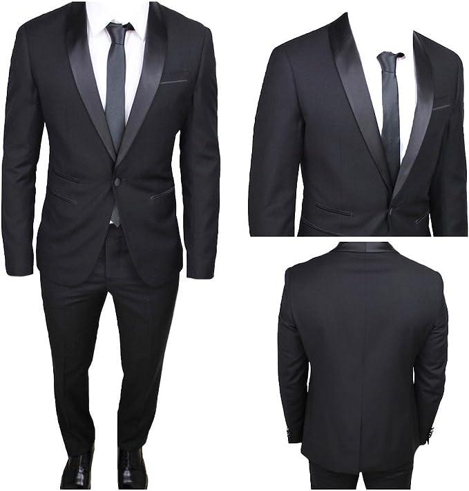 Outfit uomo, con pantalone nero elegante, slim e stretto
