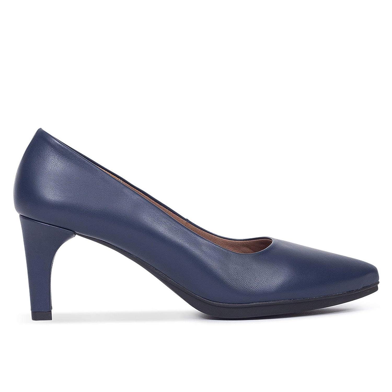 Zapato Tacon Mujer Azules Hecho en España. Colección Otoño 2018 Zapatos Fiesta y Baile Latino. Plantilla de Confort Gel incorporada. Ideal para Trabajo. Zapato Comodo Urban S miMaO