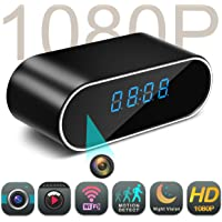 Spy Camera,MCSTREE Hidden Camera in Clock WiFi hidden Cameras 1080P Video Recorder Wireless IP Camera for Indoor Home Security Monitoring Nanny Cam 140°Angle Night Vision Motion Detection