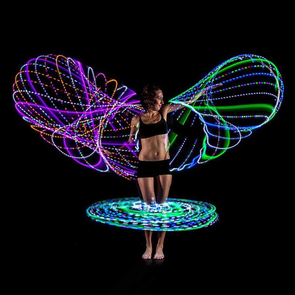 Cerceau professionnel souple de fitness Cerceaux lumineux multiples Factorys Hula Hoop /à DEL enti/èrement r/étractable /Éclairages /à DEL changeants et /à 7 couleurs