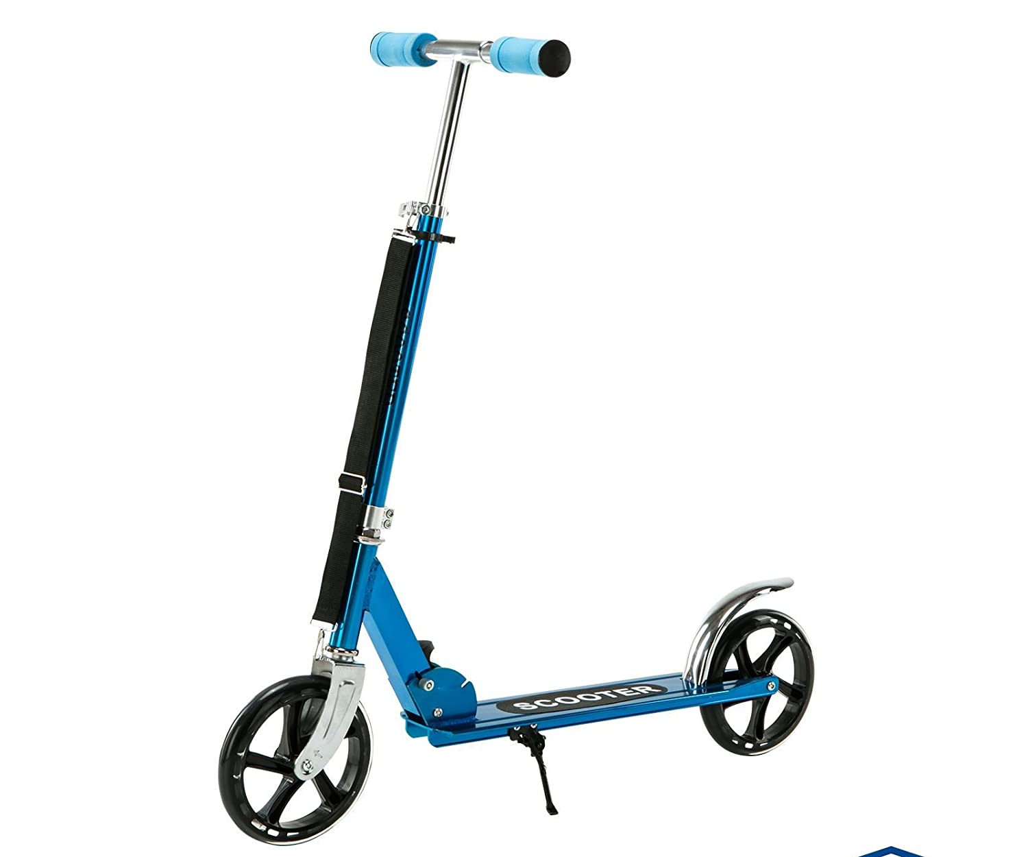 New Folding Kick Scooter 2 Wheels Outdoor Kid/Adult Ride Sport Exercise Scooter Blue