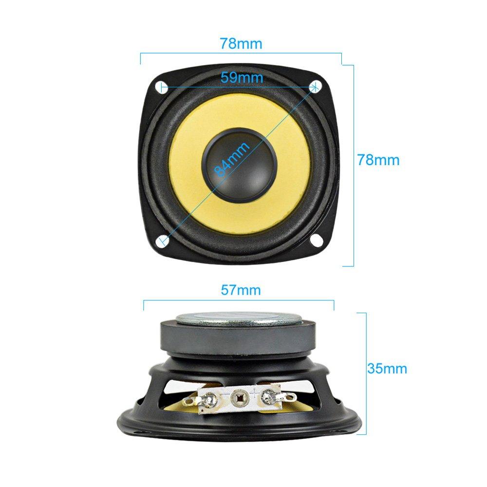 AIYIMA 2Pcs 3Inch Audio Portable Speakers Full Range 4Ohm 10W Speaker Magnetic Multimedia Loudspeaker DIY HIFI Home Theater by AIYIMA (Image #6)