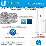 Ubiquiti PicoStation PICOM2-HP (2Units) Indoor/Outdoor airMAX 2.4GHz 600mW