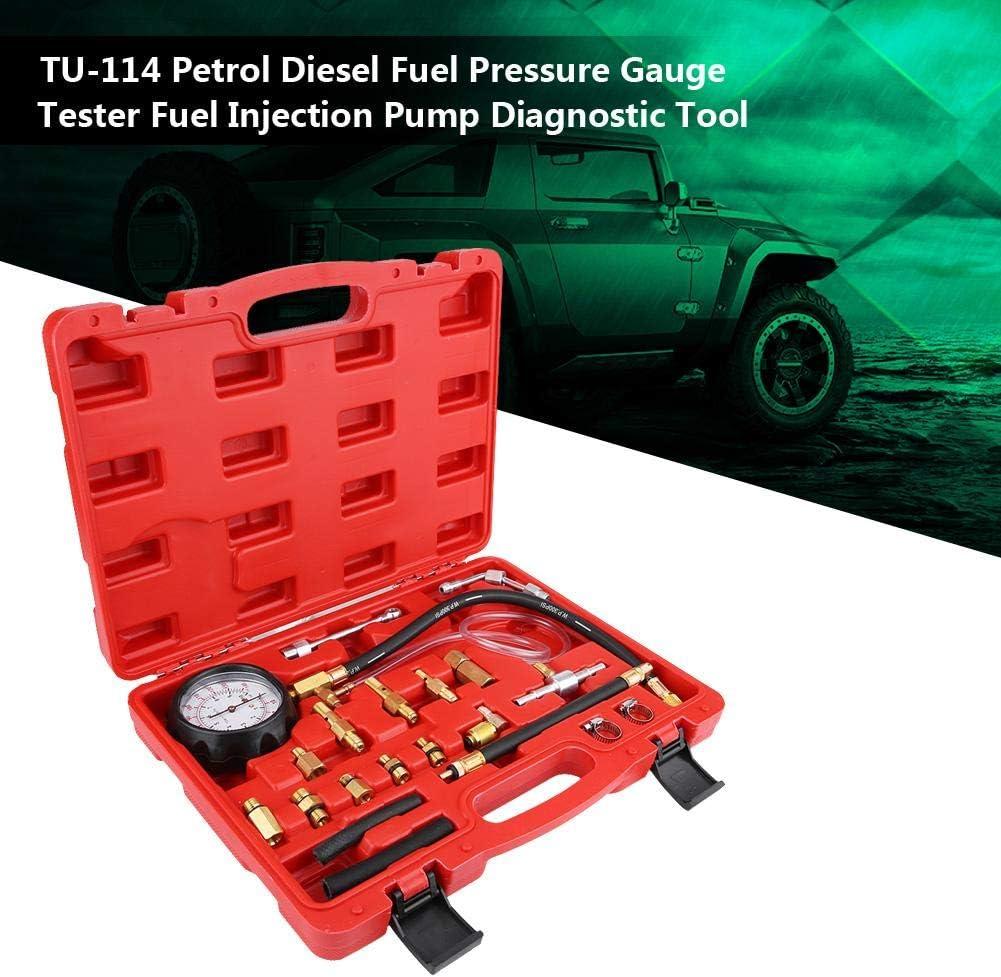 Essence pompe /à essence outil de diagnostic de pompe dinjection de carburant testeur de jauge de pression de carburant diesel TU-114