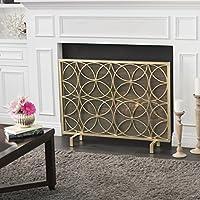 Veritas Single Panel Gold Iron Fireplace...