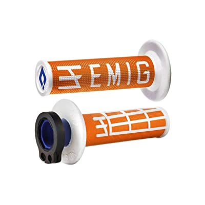 Odi Emig V2 Lock-On Grips - 2 & 4-Stroke (Orange/White): Automotive