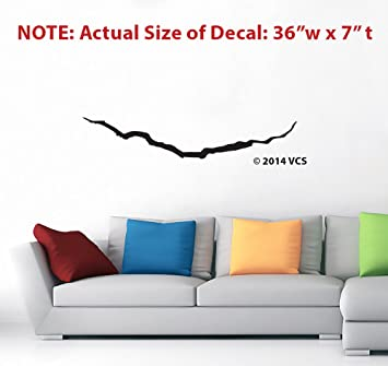 Amazoncom LARGE Crack In The Universe BLACK Wall Décor Sticker - Die cut vinyl stickers