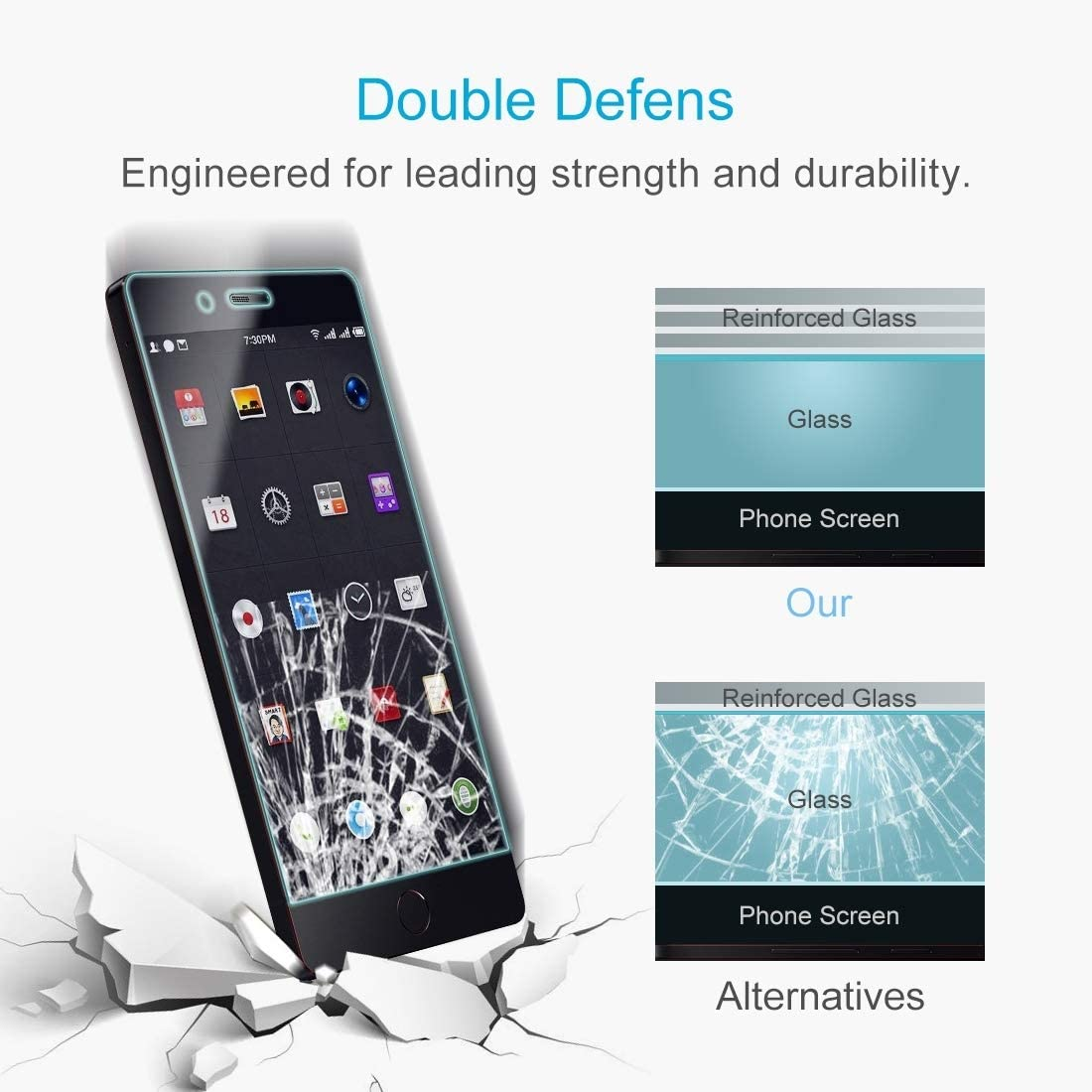 DESHENG Clear Screen Protector 100 PCS Smartisan Nut Pro 0.26mm 9H Surface Hardness Explosion-Proof Non-Full Screen Tempered Glass Screen Film Glass Film