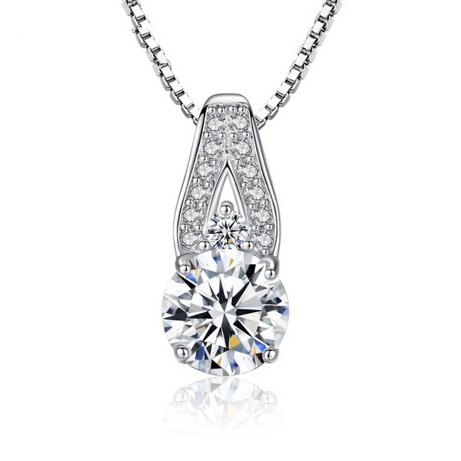 MMC Womens Necklaces Pendants Wedding Gift Engagement Silver Jewelry