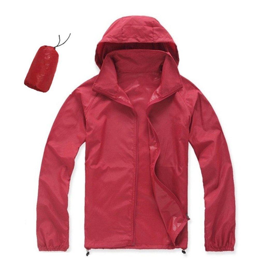 CN-Porter Women's Portable Outdoor Hooded Windbreaker Jacket Hiking Outwear (S-XXXL)
