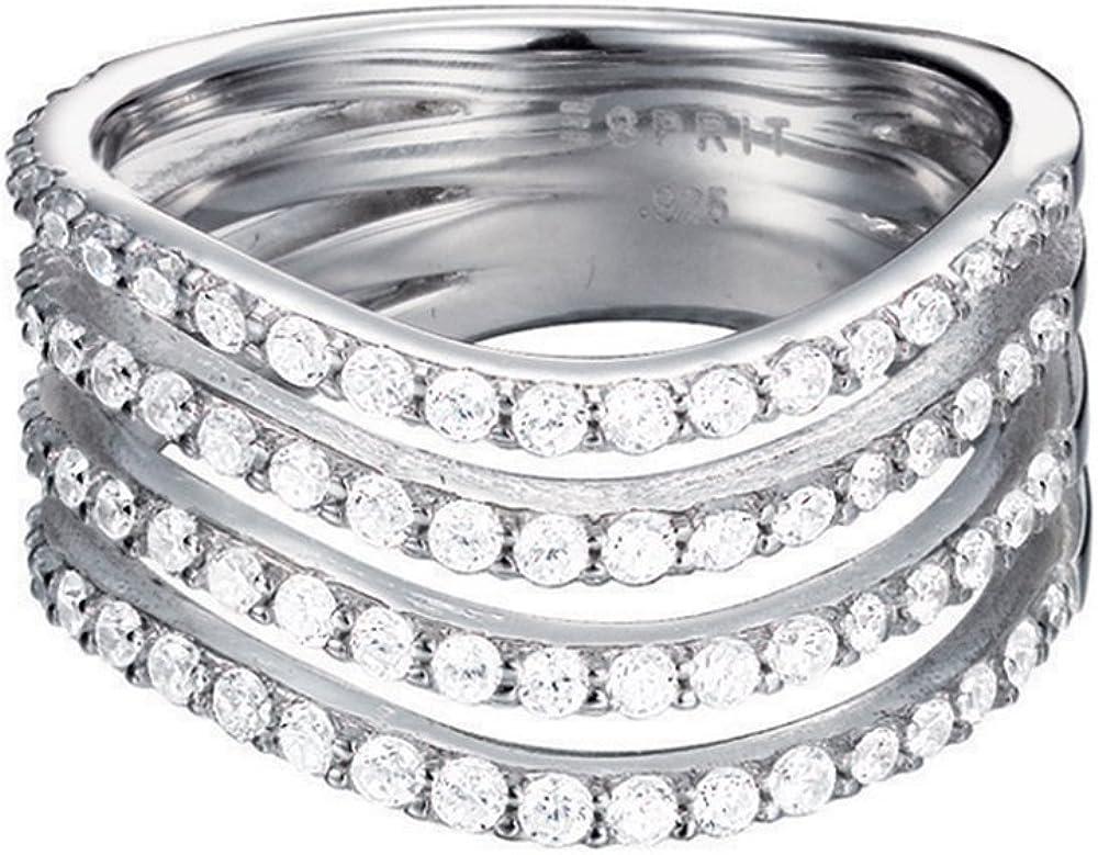 Anillo de plata con circonita ESPRIT Silver