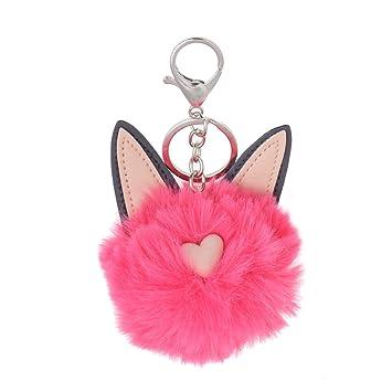 Amazon.com: Dabixx - Llavero de orejas de gato con forma de ...