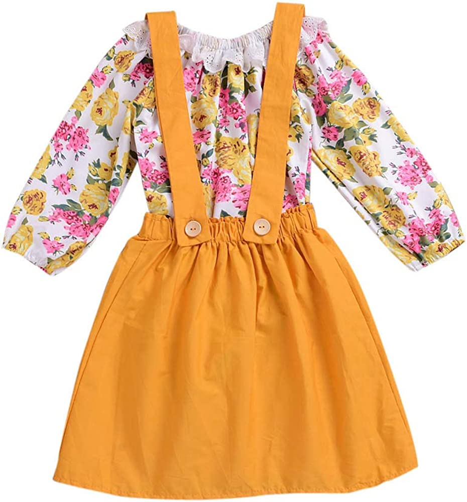 Dream/_mimi Baby Floral Print lace Side Ha Yi+Strap British Style Dress Two Piece Suit