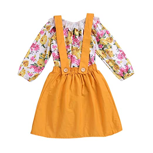 Girls Next Floral Jumper Skirt Dress Clothes, Shoes & Accessories Girls' Clothing (2-16 Years) Age 3-4 Years