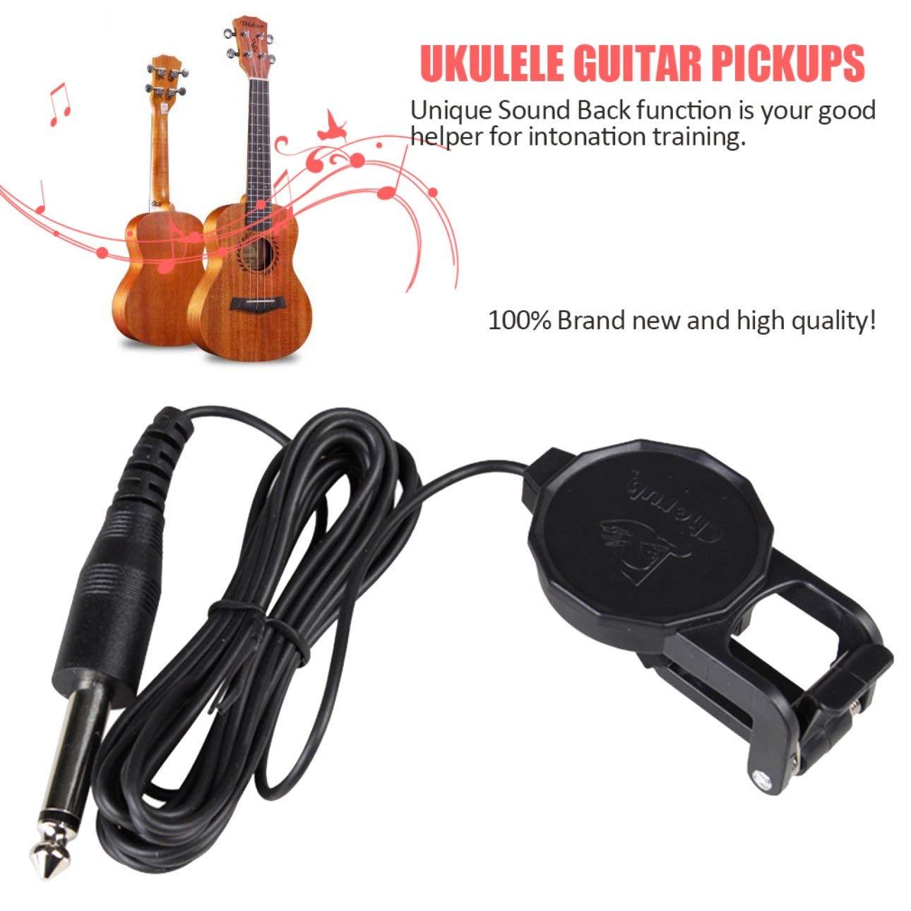 Ballylelly Cherub WCP-60G Micros pour guitare ukulélé Micros professionnels 260cm Accessoires pour instruments de musique par câble