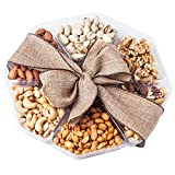 Nutty New Yorker Gourmet Food Nuts Gift Basket, 7 Different Nuts – 19.6 Ounces – Kosher Certified