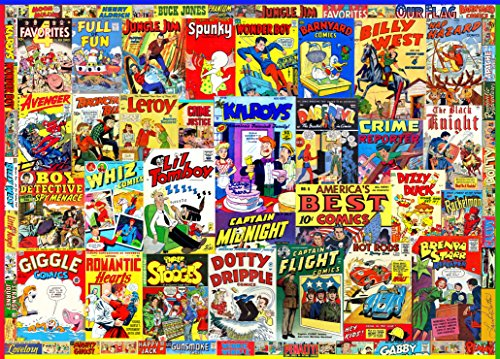 Retro Comic Books 1000 Piece Jigsaw Puzzle
