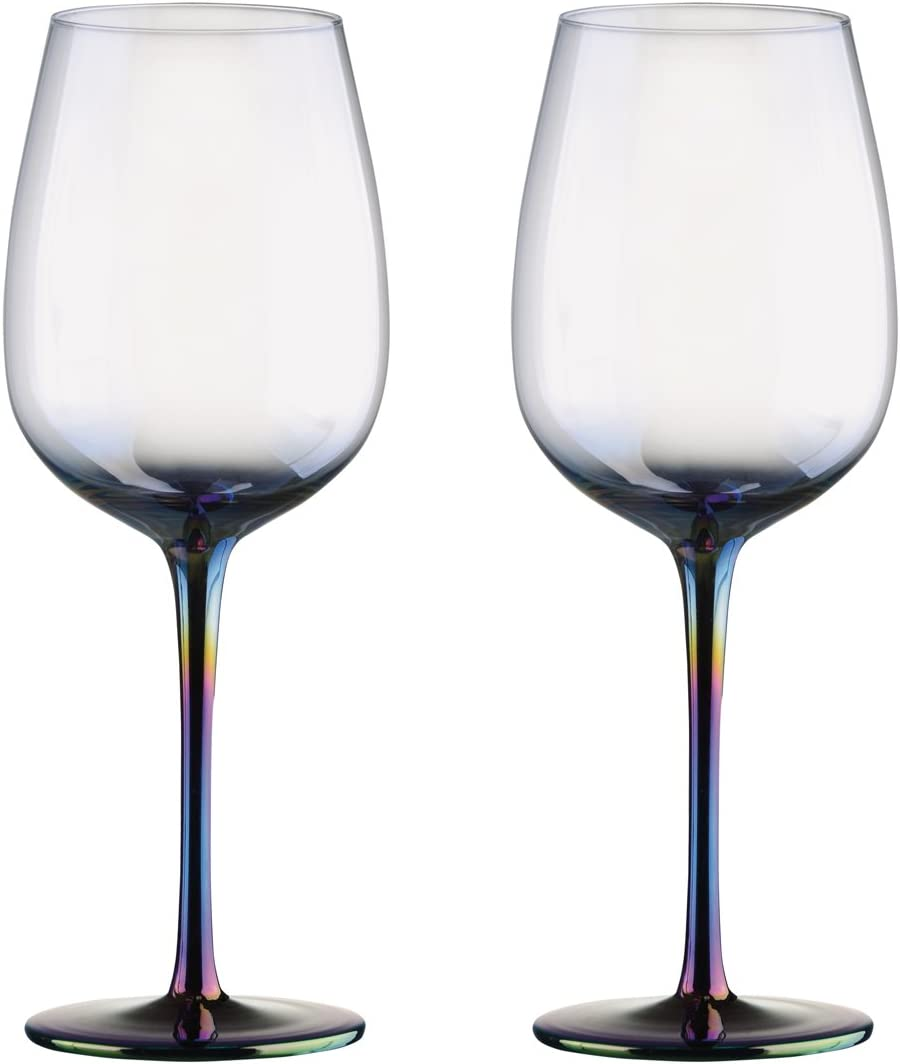 Artland Mirage Lustre Iridescent Champagne Flutes Glasses Set of 2  25cl