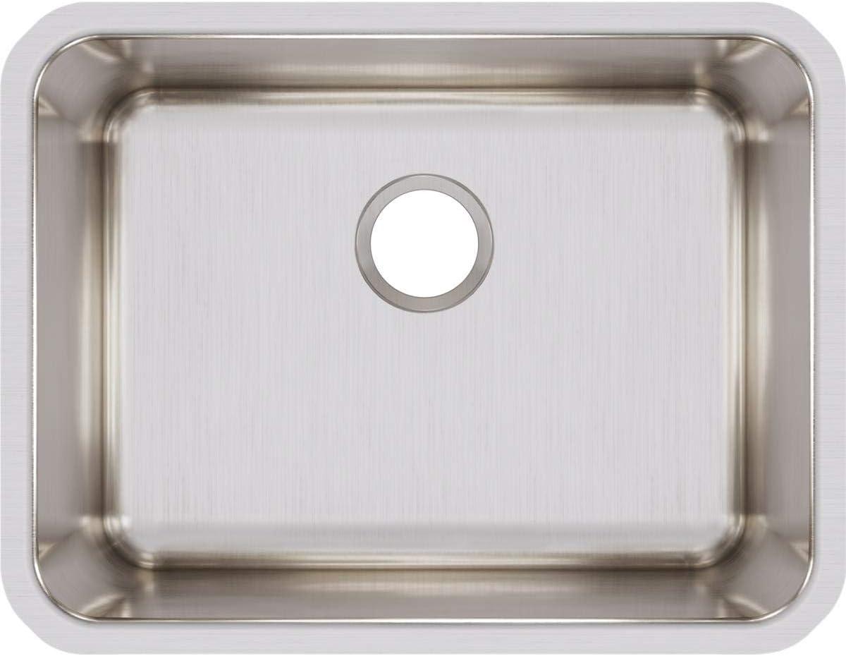 Elkay ELUH2115 Lustertone Classic Single Bowl Undermount Stainless Steel Sink