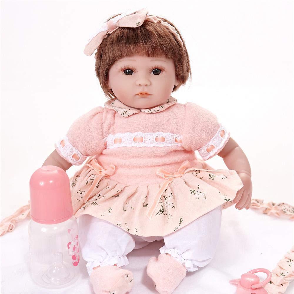 Hongge Reborn Baby Doll,Verdadero Renacimiento muñeca Realista bebé muñeca de los Cabritos Juguetes Mejor Regalo de cumpleaños de Navidad 43cm