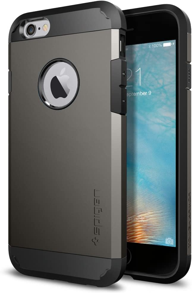 Spigen Tough Armor Works with Apple iPhone 6S Case - Gunmetal ...
