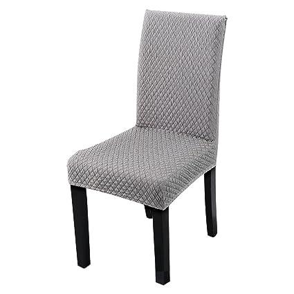 Amazon.com: HOTNIU Jacquard Dining Chair Slipcovers - Thick ...