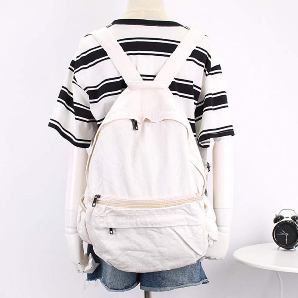 Alian Fashionable Backpack, Women Men Casual Backpack Canvas Denim College School Backpack Equipment Travel Bag Large Backpack by Alian (Image #3)