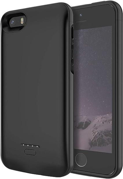 Custodia con batteria per iPhone SE. Caricabatterie