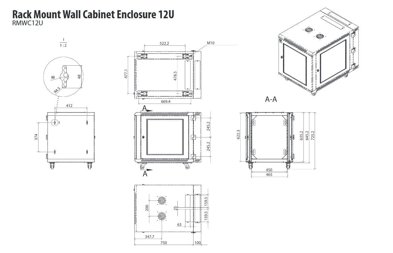 V7 RMUR1U-1E Kit rail en rack 1U universel