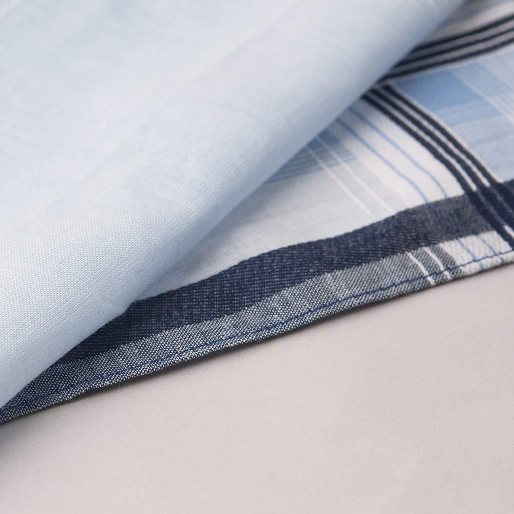 HOULIFE Herren Streifen Taschent/ücher aus Reiner Baumwolle 40x40cm 3 Farben f/ür Alltagsgebrauch