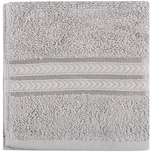 Better Homes and Gardens Thick and Plush Solid Bath Collection, Washcloth Soft Silver from Better Homes & Gardens