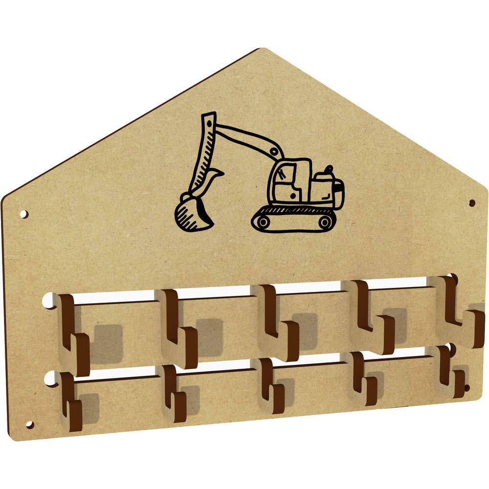 Azeeda Digger Truck Wall Mounted Coat Hooks Rack WH00029202