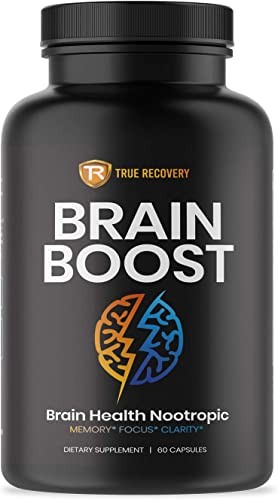 Brain Supplement Nootropic Booster – Energy and Focus Blend for Enhanced Concentration, Memory Clarity – Mind Enhancing Supplement – Brain Boost Pills for Men Women 60 Capsules