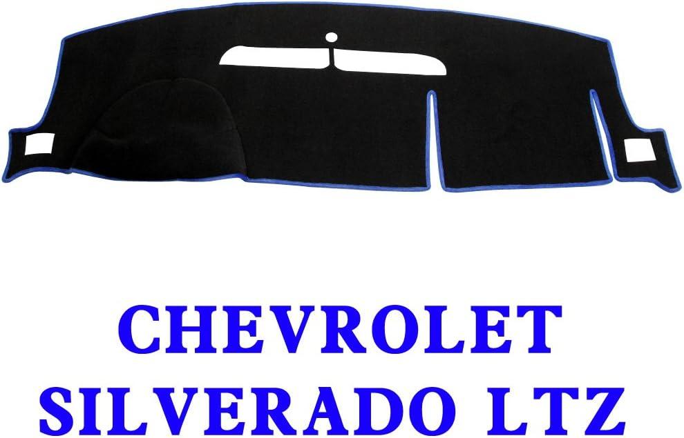 MR-074 JIAKANUO Auto Car Dashboard Carpet Dash Board Cover Mat Fit Chevy Chevrolet Silverado LT HD WT 4x4 2008-2013 Silverado 08-13 Gray