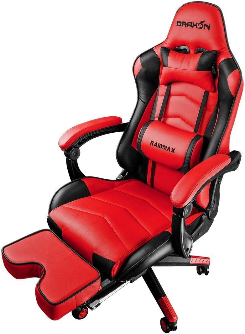 Drakon Raidmax 709 - Silla para Videojuegos (Rojo): Amazon.es: Juguetes y juegos