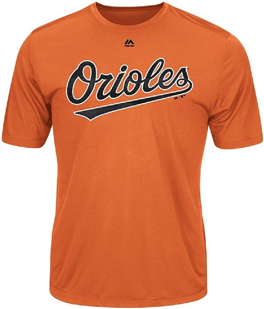 Majestic Baltimore Orioles Wicking Licensed Adult Replica Jersey T-Shirt
