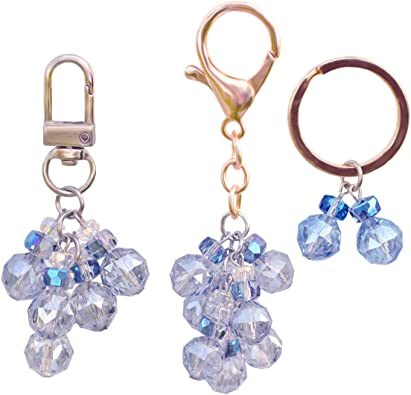Crystal Keychains for Women Girls Purse Charms Key Chain Key Ring Crystal  Beads Pendant (Blue) at Amazon Women's Clothing store