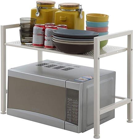 LTLWSH Estante de Horno para Microondas, Estante de Cocina de Acero Carbono Almacenamiento de Cocina Estante Organizador Armario De Cocina: Amazon.es: Hogar