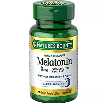 Amazon.com: Natures Bounty Melatonin 3 mg Tablets 120 Tablets (Pack ...