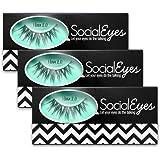 SocialEyes Minx 2.0 Lashes Handmade Fake False Eyelashes Eye Lashes 3 Packs
