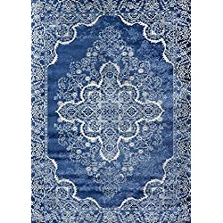 Persian-Rugs 5529 Blue Oriental 8x10 Area Rug Carpet New