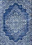 Persian-Rugs 5529 Blue Oriental 5x7 Area Rug Carpet New