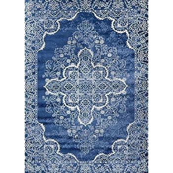 Persian-Rugs 5529 Blue Oriental 8x10 Area Rug Carpet New